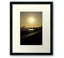 Sunshine and Silhouettes Framed Print