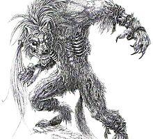 Shade - undead werewolf by drakhenliche