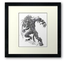 Shade - undead werewolf Framed Print