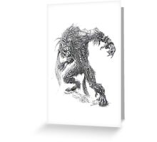Shade - undead werewolf Greeting Card