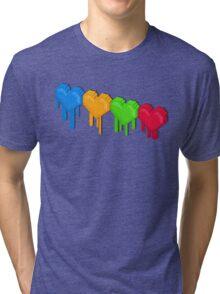 8-Bit Retro Love! Tri-blend T-Shirt
