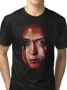 Summer Glau River Oil Painting Tri-blend T-Shirt