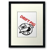 drift pig. JDM style Framed Print