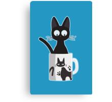 Cat In A Mug Canvas Print