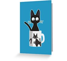 Cat In A Mug Greeting Card