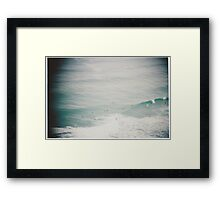 Waves vignette Framed Print