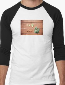 The acorn and the tree. Men's Baseball ¾ T-Shirt