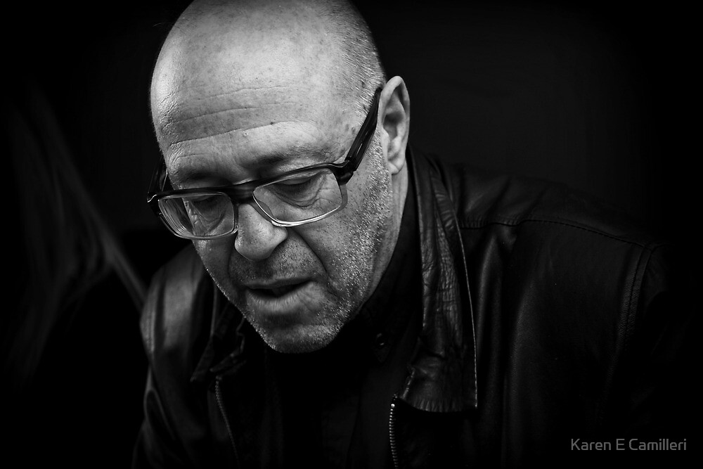 Man in Glasses by Karen E Camilleri