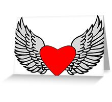 Feathered Wings and Heart Greeting Card