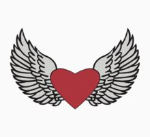 Feathered Wings and Heart by sweetsixty
