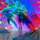 Angelic Sea of Dolphins by Brian Exton