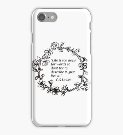 Live/flower crown iphone case iPhone Case/Skin