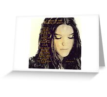I drown in the memory of you Greeting Card