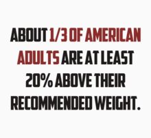 About 1/3 of American adults are at least 20% above their recommended weight. Kids Clothes