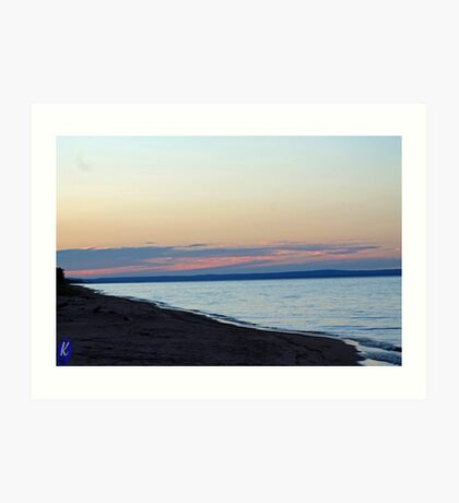 Stunning Sunset on Superior Art Print