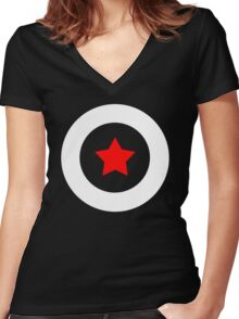 Shield T-Shirt Women's Fitted V-Neck T-Shirt