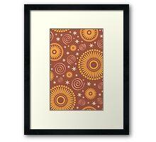 Pop! Brown & Orange Framed Print