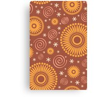 Pop! Brown & Orange Canvas Print