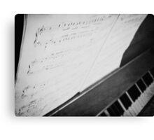 Debussy Sheet Music Canvas Print