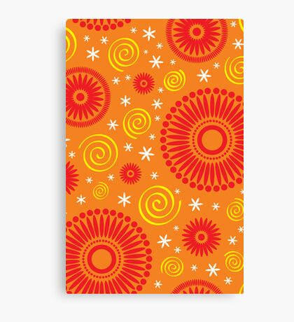 Pop! Orange & Bright Orange Canvas Print