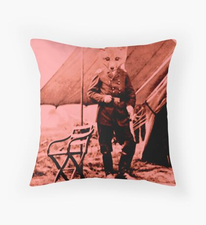 Smart Like a fox Throw Pillow