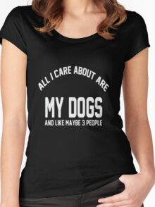 my dog won't fight but i will Women's Fitted Scoop T-Shirt