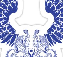 Blue Angel Wings Sticker