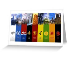 Game of Thrones factions Greeting Card