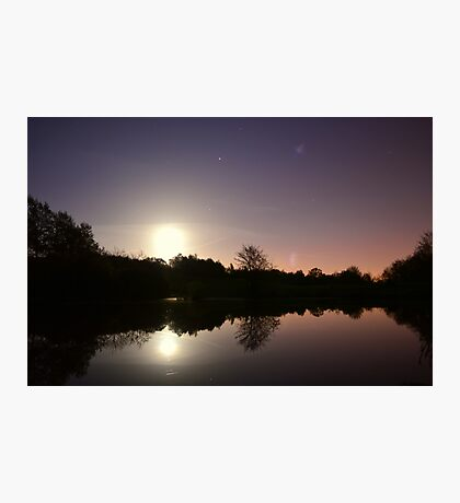 Moonlight Lake Photographic Print