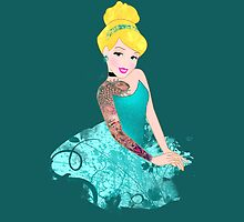 Cinderella- Inked by jebez-kali