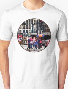 Chicago IL - Rainy Day on E Wacker Drive Unisex T-Shirt