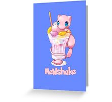 Mewshake Pokemon Greeting Card