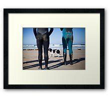 Beach Dog & Sandy Bums Framed Print