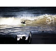 Bodyboarding Shore Brake Photographic Print