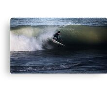 Surfing The Shore Brake Canvas Print