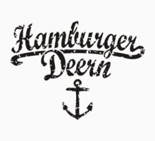 Hamburger Deern Classic Anker (Used Look) Schwarz by theshirtshops