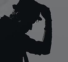 silhouette of Patrick Stump by hotwhiskey-eyes