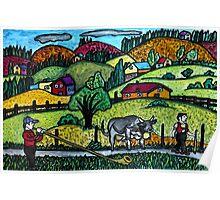 A Naive Appenzellerland, Switzerland Landscape Poster