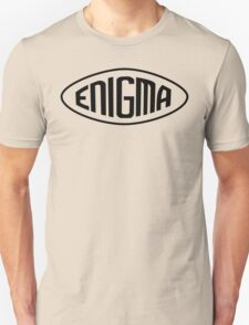 Enigma Machine Logo (Black) Unisex T-Shirt