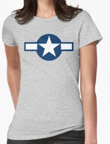 1943-1947 US Air Corps Star Womens Fitted T-Shirt