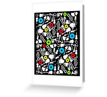 abstract music  Greeting Card