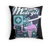 Medi-gel Advertisement Throw Pillow