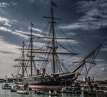 Portsmouth Docks  by outlawalien