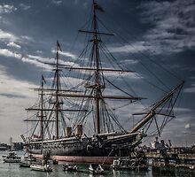 Portsmouth Docks  by outlawalien