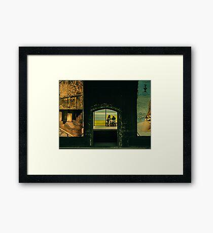 Tube in BCN Framed Print