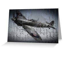 Spitfire over France  Greeting Card