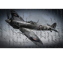 Spitfire over France  Photographic Print