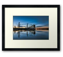 Fade to blue Framed Print