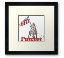 Mounted Patriot  Framed Print