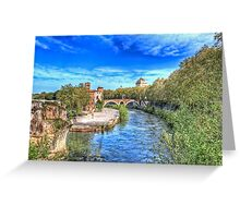 Old Bridge Over the Tiber Greeting Card